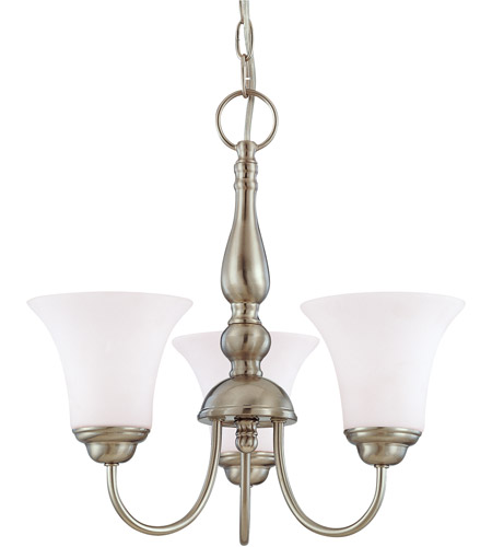 Nuvo Lighting Dupont 3 Light Chandelier in Brushed Nickel 60/1821 photo