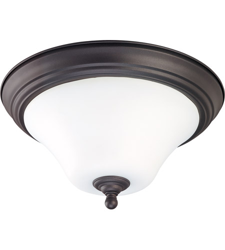 Nuvo 60/1845 Dupont 2 Light 13 inch Dark Chocolate bronz Flushmount Ceiling Light photo