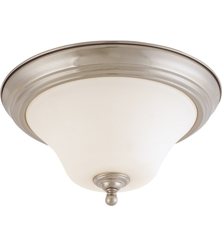 Nuvo 60/1905 Dupont 2 Light 13 inch Brushed Nickel Flushmount Ceiling Light photo