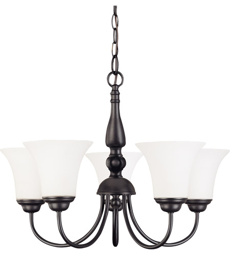 Nuvo 60/1922 Dupont 5 Light 21 inch Dark Chocolate bronz Chandelier Ceiling Light photo