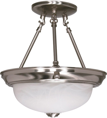 Nuvo 60/200 Signature 2 Light 11 inch Brushed Nickel Semi-Flush Ceiling Light photo
