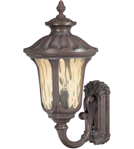 Nuvo 60/2001 Beaumont 3 Light 28 inch Fruitwood Outdoor Wall Lantern photo