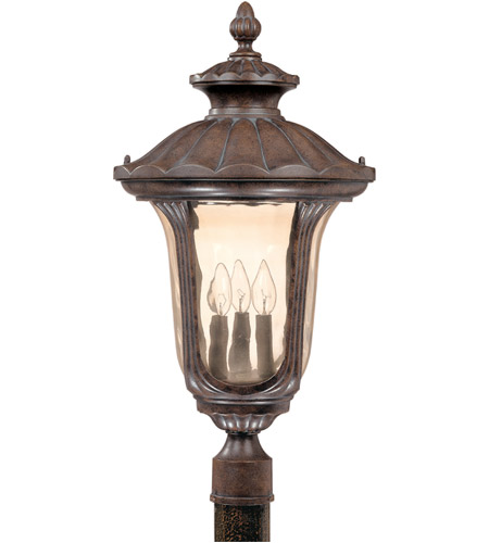 Nuvo Lighting Beaumont 3 Light Outdoor Post Lantern in Fruitwood 60/2011 photo