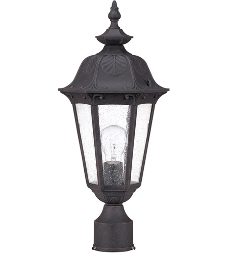 Nuvo 60/2039 Cortland 1 Light 20 inch Satin Iron ore Outdoor Post Lantern photo