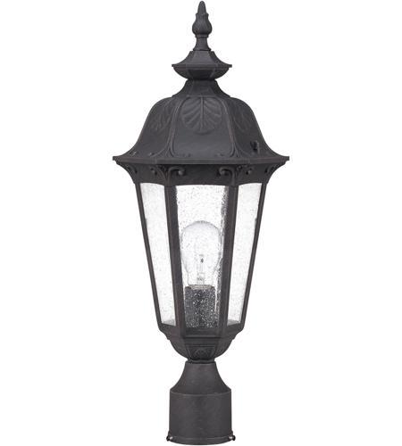 Nuvo Lighting Cortland 1 Light Outdoor Post Lantern in Satin Iron ore 60/2039 photo