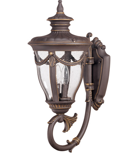 Nuvo 60/2043 Philippe 2 Light 22 inch Belgium Bronze Outdoor Wall Lantern photo