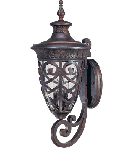 Nuvo 60/2051 Aston 3 Light 28 inch Dark Plum Bronze Outdoor Wall Lantern photo