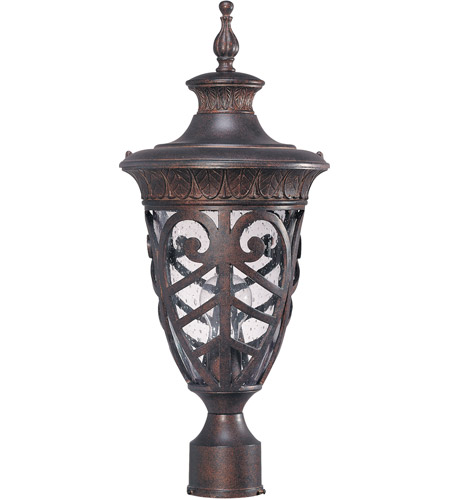 Nuvo Lighting Aston 1 Light Outdoor Post Lantern in Dark Plum Bronze 60/2059 photo