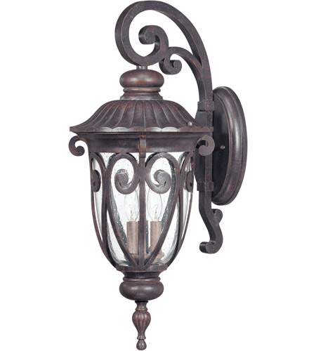 Nuvo Lighting Corniche 3 Light Outdoor Wall Lantern in Burlwood 60/2062 photo