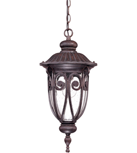Nuvo 60/2068 Corniche 1 Light 10 inch Burlwood Outdoor Hanging Lantern photo