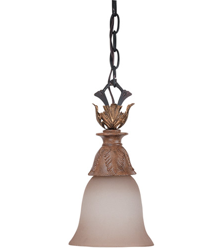 Nuvo Lighting Verdone 1 Light Mini Pendant in Gilded Cage 60/2107 photo