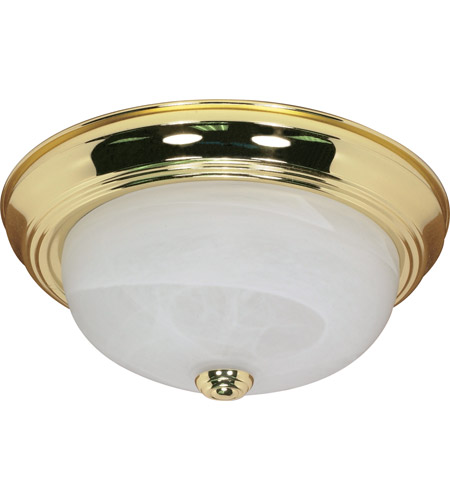 Nuvo 60/214 Signature 2 Light 13 inch Polished Brass Flushmount Ceiling Light photo