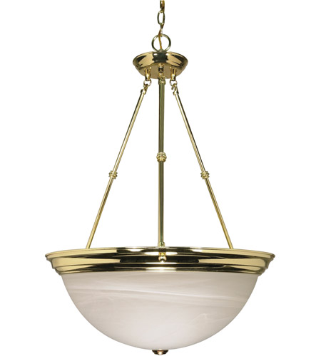Nuvo Lighting Signature 3 Light Pendant in Polished Brass 60/220 photo