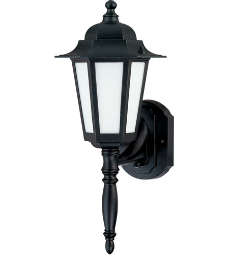 Nuvo Lighting Cornerstone Es 1 Light Outdoor Wall Lantern with Photocell in Textured Black 60/2203 photo