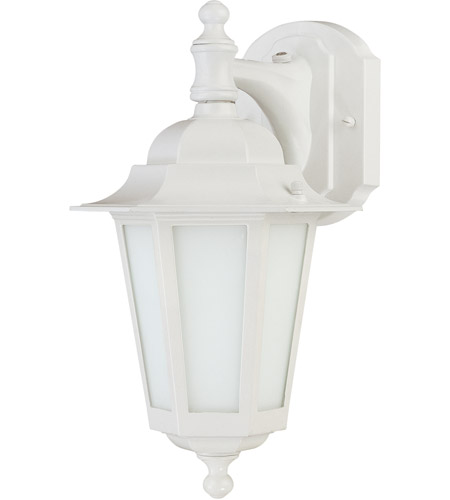 Nuvo Lighting Cornerstone Es 1 Light Outdoor Wall Lantern with Photocell in White 60/2204 photo