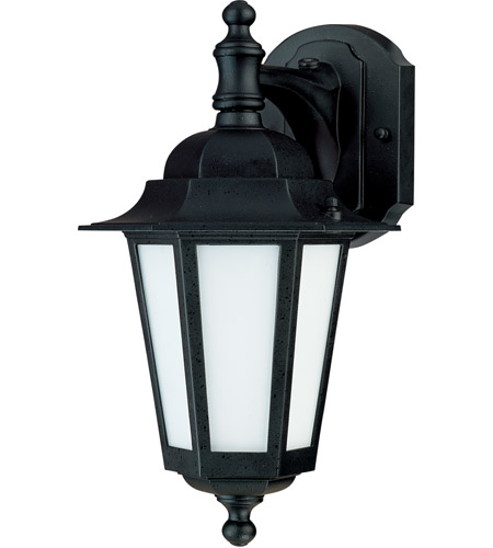 Nuvo Lighting Cornerstone Es 1 Light Outdoor Wall Lantern with Photocell in Textured Black 60/2206 photo