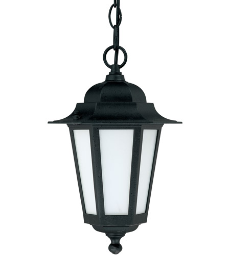 Nuvo 60/2209 Cornerstone Es 1 Light 7 inch Textured Black Outdoor Hanging Lantern photo