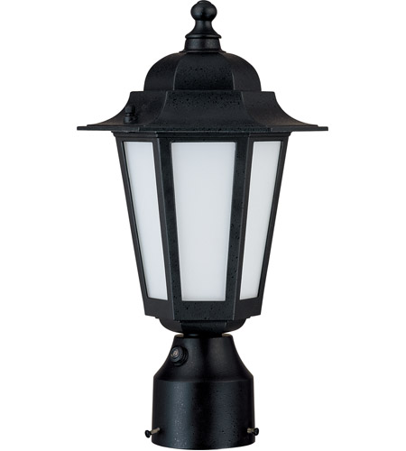 Nuvo Lighting Cornerstone Es 1 Light Outdoor Post Lantern with Photocell in Textured Black 60/2213 photo