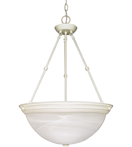 Nuvo 60/228 Signature 3 Light 20 inch Textured White Pendant Ceiling Light photo