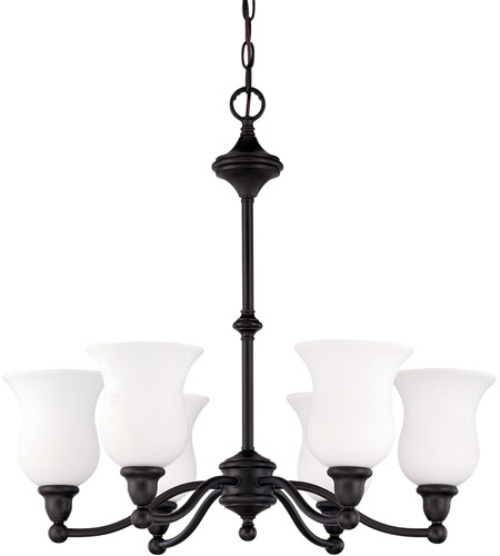 Nuvo Lighting Glenwood 6 Light Chandelier in Sudbury Bronze 60/2427 photo