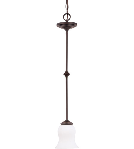 Nuvo Lighting Glenwood 1 Light Mini Pendant in Sudbury Bronze 60/2433 photo
