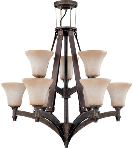 Nuvo Lighting Viceroy 9 Light Chandelier in Golden Umber 60/2442 photo