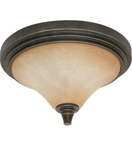 Nuvo Lighting Viceroy 2 Light Flushmount in Golden Umber 60/2448 photo