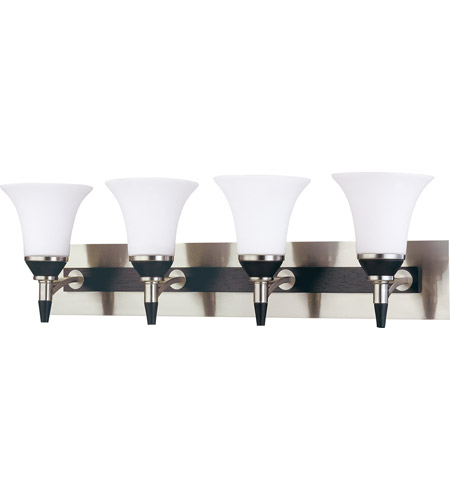 Nuvo Lighting Keen 4 Light Vanity & Wall in Nickel & black 60/2467 photo