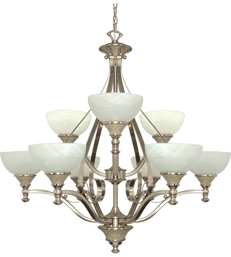 Nuvo Lighting Rockport Milano 9 Light Chandelier in Brushed Nickel 60/2486 photo
