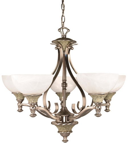 Nuvo Lighting Rockport Milano 5 Light Chandelier in Brushed Nickel 60/2488 photo