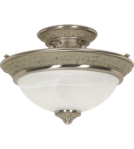Nuvo Lighting Rockport Milano 2 Light Semi-Flush in Brushed Nickel 60/2491 photo