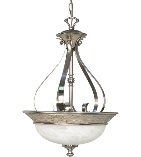 Nuvo Lighting Rockport Milano 3 Light Pendant in Brushed Nickel 60/2492 photo