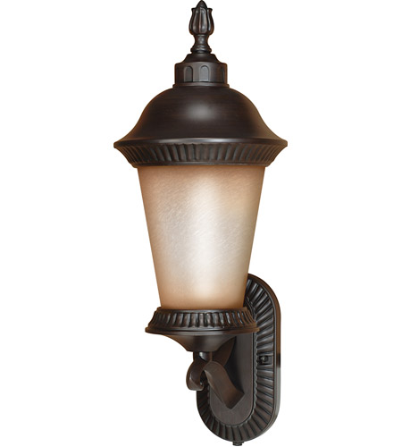 Nuvo Lighting Clarion 1 Light Outdoor Wall Lantern with Photocell in Chestnut Bronze 60/2502 photo