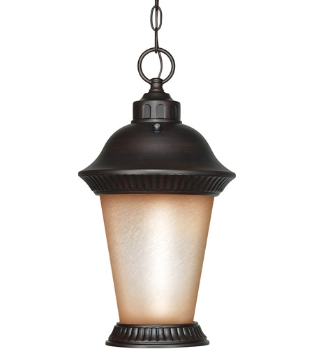 Nuvo Lighting Clarion 1 Light Outdoor Hanging Lantern with Photocell in Chestnut Bronze 60/2504 photo