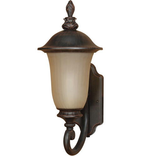 Nuvo Lighting Parisian 1 Light Outdoor Wall Lantern with Photocell in Old Penny Bronze 60/2506 photo
