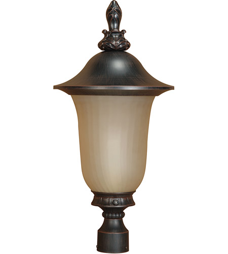 Nuvo Lighting Parisian 1 Light Outdoor Post Lantern with Photocell in Old Penny Bronze 60/2511 photo