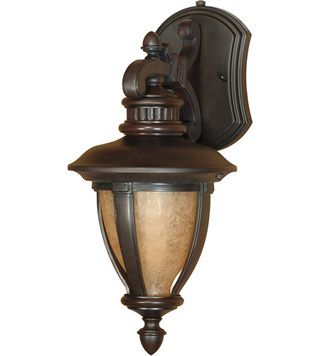 Nuvo Lighting Galeon 1 Light Outdoor Wall Lantern with Photocell in Old Penny Bronze 60/2517 photo