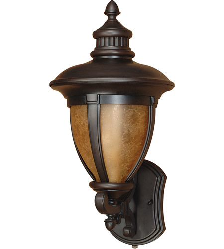 Nuvo Lighting Galeon 1 Light Outdoor Wall Lantern with Photocell in Old Penny Bronze 60/2518 photo