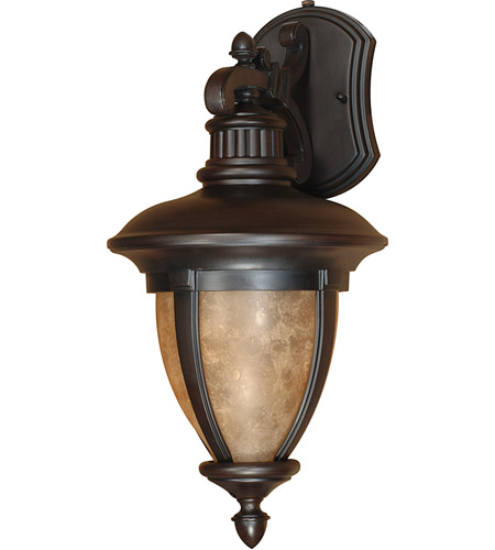 Nuvo Lighting Galeon 1 Light Outdoor Wall Lantern with Photocell in Old Penny Bronze 60/2519 photo
