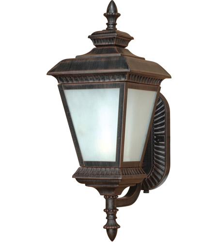 Nuvo Lighting Charter 1 Light Outdoor Wall Lantern with Photocell in Old Penny Bronze 60/2523 photo