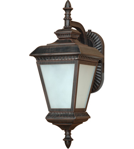 Nuvo Lighting Charter 1 Light Outdoor Hanging Lantern with Photocell in Old Penny Bronze 60/2526 photo