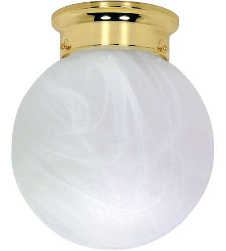 Nuvo Lighting Signature 1 Light Flushmount in Polished Brass 60/256 photo
