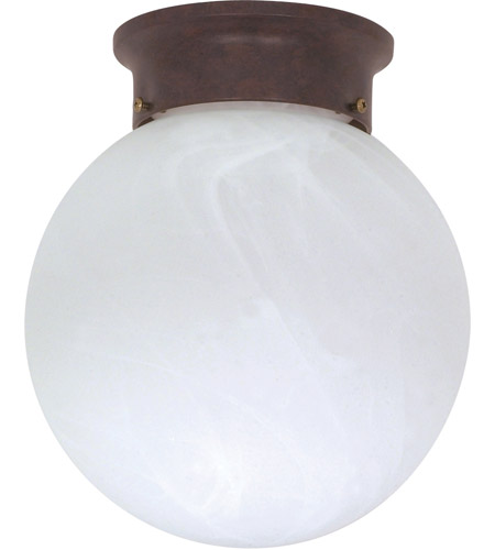 Nuvo 60/260 Signature 1 Light 8 inch Old Bronze Flushmount Ceiling Light photo
