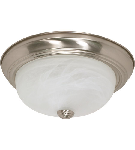 Nuvo 60/2622 Signature 2 Light 13 inch Brushed Nickel Flushmount Ceiling Light photo