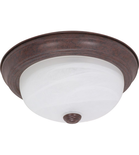 Nuvo 60/2625 Signature 2 Light 13 inch Old Bronze Flushmount Ceiling Light photo