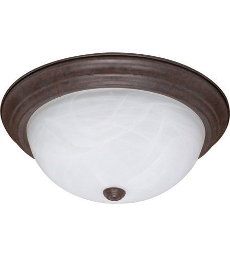 Nuvo 60/2627 Signature 3 Light 15 inch Old Bronze Flushmount Ceiling Light photo