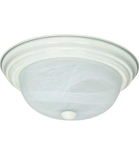 Nuvo Lighting Signature 2 Light Flushmount in Textured White 60/2628 photo