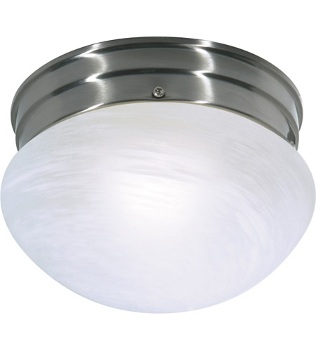 Nuvo 60/2633 Signature 1 Light 8 inch Brushed Nickel Flushmount Ceiling Light photo