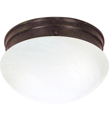 Nuvo 60/2634 Signature 2 Light 10 inch Old Bronze Flushmount Ceiling Light photo