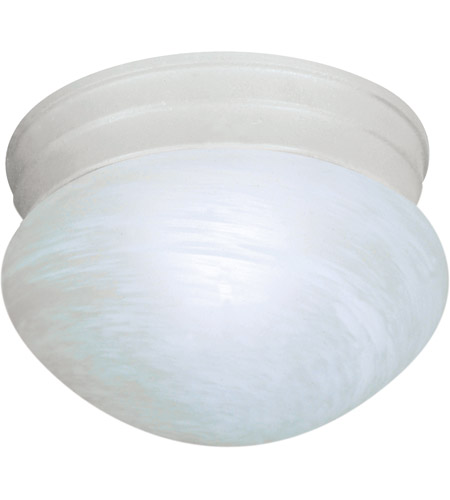 Nuvo 60/2636 Signature 1 Light 8 inch Textured White Flushmount Ceiling Light photo